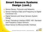 smart sensors systems design cont