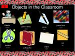 objects in the classroom