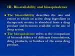 iii bioavailability and bioequivalence