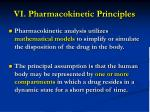 vi pharmacokinetic principles