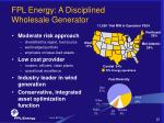 fpl energy a disciplined wholesale generator