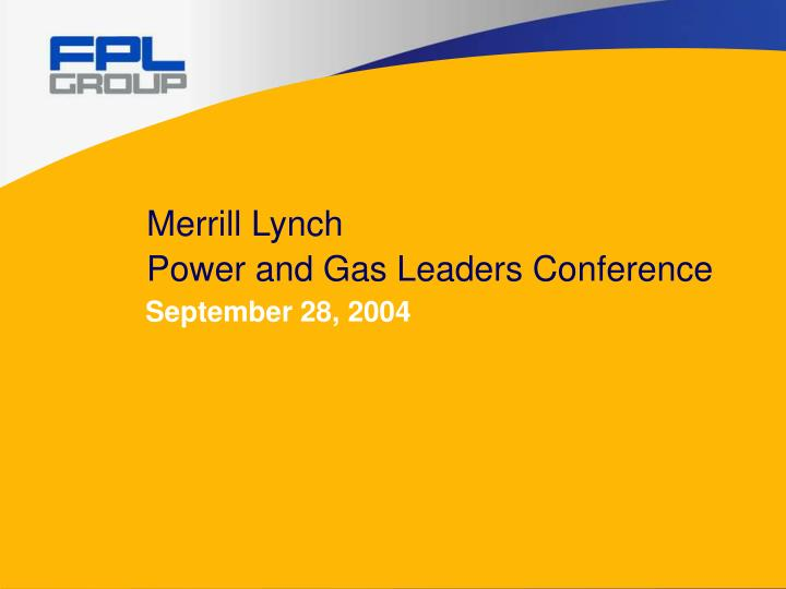 merrill lynch power and gas leaders conference n.
