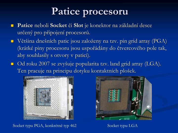 Patice procesoru