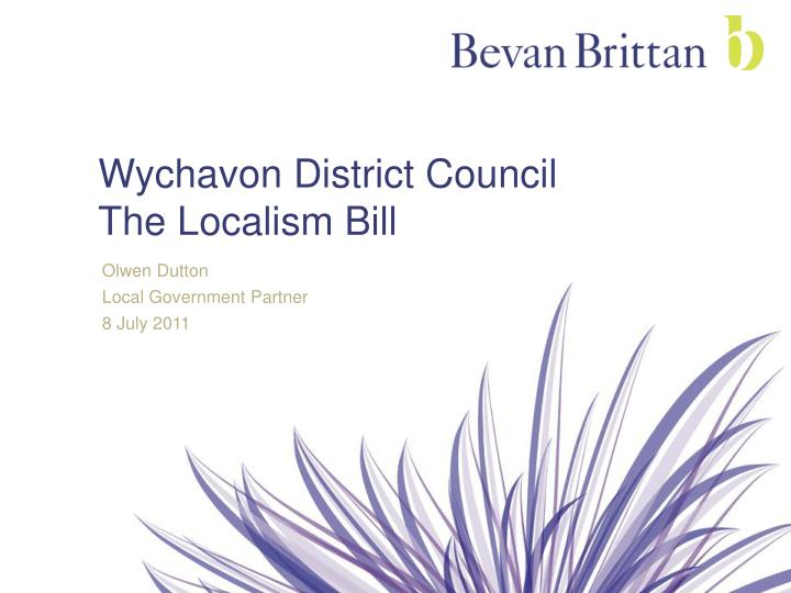 wychavon district council the localism bill n.