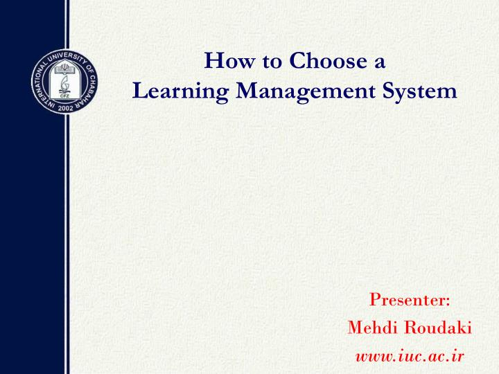 how to choose a learning management system n.