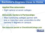 bachelor s degrees close to home