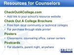 resources for counselors