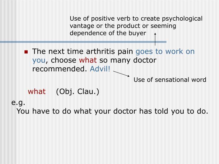 The next time arthritis pain