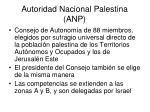 autoridad nacional palestina anp