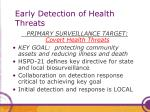 early detection of health threats
