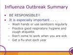 influenza outbreak summary