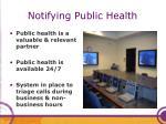 notifying public health
