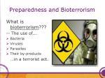 preparedness and bioterrorism