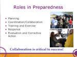 roles in preparedness1
