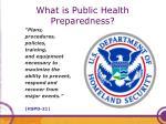 what is public health preparedness