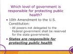 which level of government is responsible for protecting public health