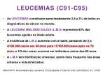 leucemias c91 c95