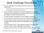 book challenge procedures