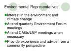 environmental representatives