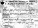 barracks work order timelines
