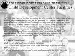 child development center facilities