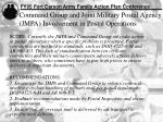 command group and joint military postal agency jmpa involvement in postal operations