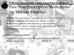 free non prescription medications for military families