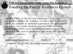 funding for family readiness groups
