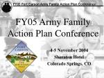 fy05 army family action plan conference