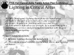 lighting in critical areas