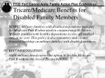 tricare medicare benefits for disabled family members