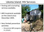 likoma island hiv services