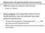 measures of partnership concurrency