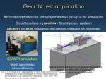 geant4 test application