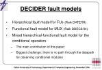 decider fault models