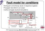 fault model for conditions