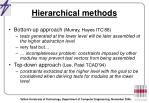 hierarchical methods