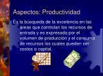 aspectos productividad