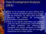 data envelopment analysis dea