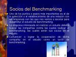 socios del benchmarking