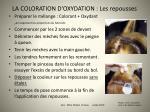 la coloration d oxydation les repousses