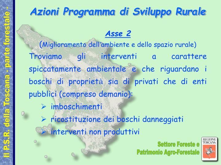 Azioni Programma di Sviluppo Rurale