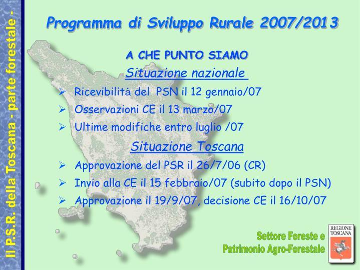Programma di sviluppo rurale 2007 2013