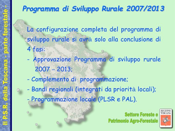 Programma di sviluppo rurale 2007 20131