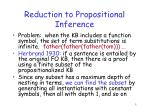 reduction to propositional inference1