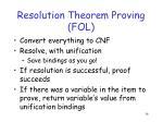 resolution theorem proving fol