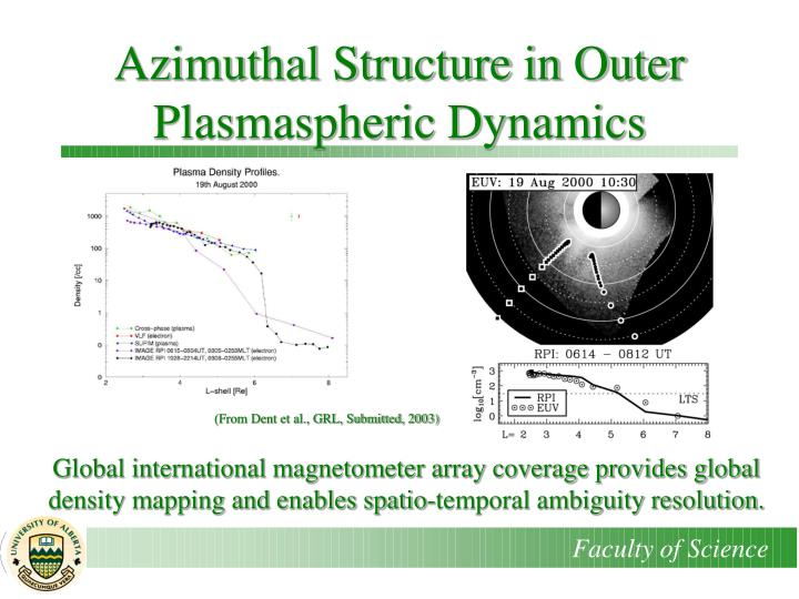 Azimuthal Structure in Outer Plasmaspheric Dynamics