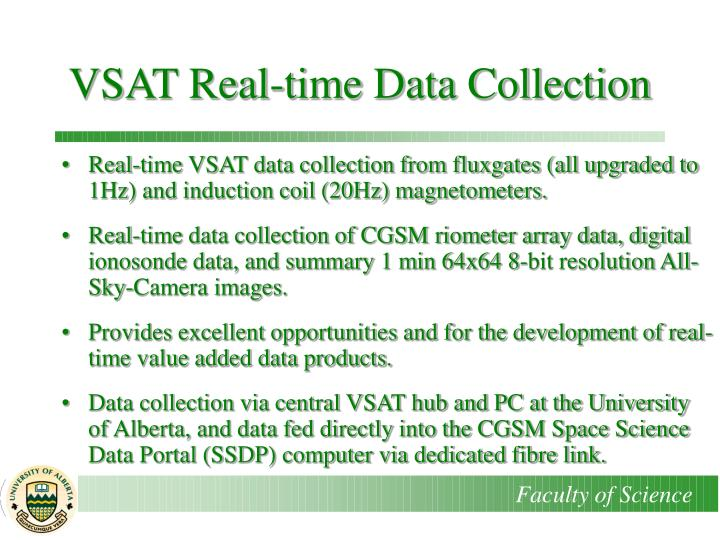 VSAT Real-time Data Collection