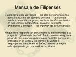 mensaje de filipenses
