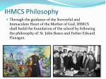 ihmcs philosophy